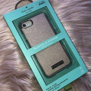 Kate Spade Saffiano Gold iPhone 8 Case